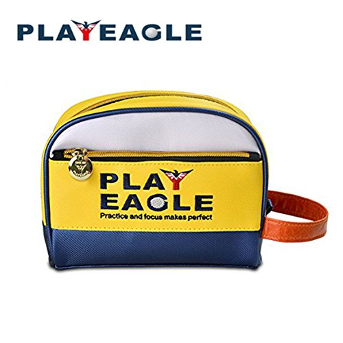 PLAYEAGLE Mini Multifunctional Golf Handbag Leather Golf Pouch for Golf Tee, Ball,Towel and more Golf Accessories ()