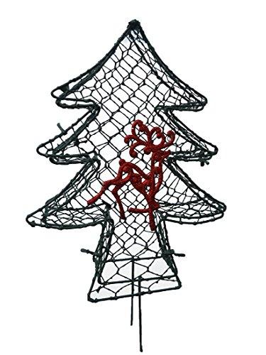 X-mas Tree 11 inches high Topiary Frame, Handmade Animal -