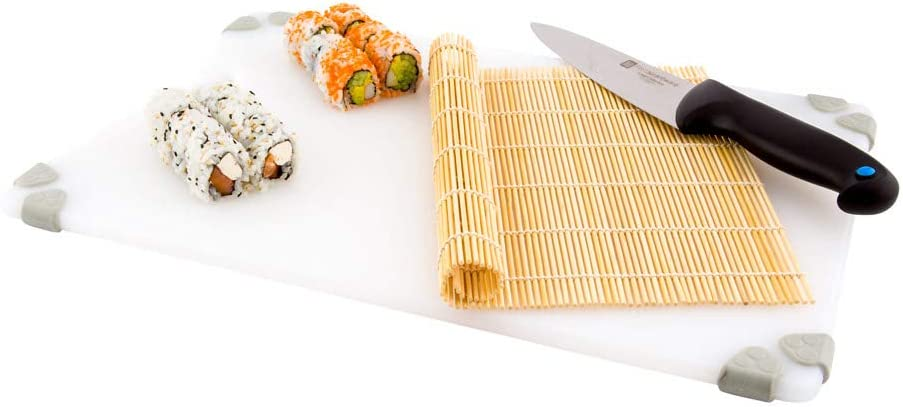 10.5 Inch x 10.5 Inch Sushi Roller Mat, 1 Chef Grade Sushi Bamboo Mat - Food Safe, Sustainable, Natural Bamboo Bamboo Sushi Roller, For Sushi - Restaurantware