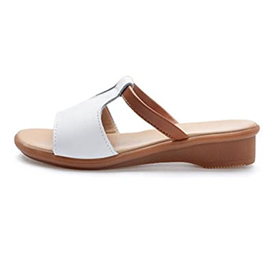 7aa11bd94 XHCHE Women Sandals Genuine Leather Shoes Women Summer Style Flip Flops  Wedges Fashion Platform Female Slides Lady Shoes  Amazon.co.uk  Shoes   Bags
