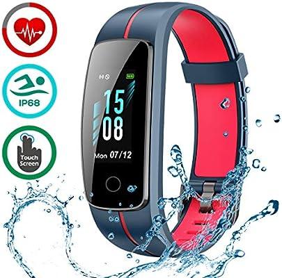 LATEC Montre Connectée [Dernière Version], Smartwatch Bracelet Connecté Podomètre IP68 Étanche Fitness Tracker