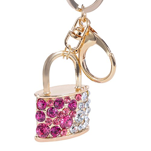 Metallic Lock Shaped Design Keychain Premium Quality Limited Edition Crystal Keyring Embrace Your Keys With Attractive Key Chain| Key Ring | Keyholder For Bike | Car | Scooty | Bag | Purse | Gifting And Personal Use By Jewel And You