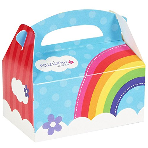 Rainbow Wishes Party Supplies - Empty Favor Boxes (4) - Wizard Of Oz Rainbow