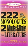 The Ultimate Audition Book: 222 Monologues, 2 Minutes and Under from Literature