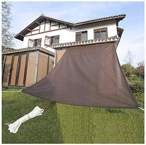 PENGFEI オーニングシェード遮光ネット 85%UV耐性 バルコニー、プール、テラス、温室植物、 オーニングキャノピー、 防水ではありません (Color : Brown, Size : 2X5m)