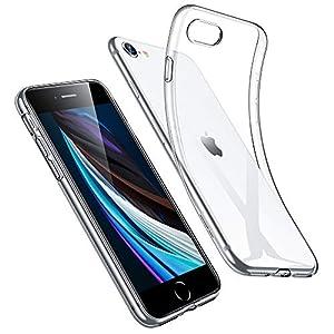 ESR Coque Compatible avec iPhone 7, 8, Se 2020, Bumper Housse Etui de Protection Transparent en Silicone TPU Souple…