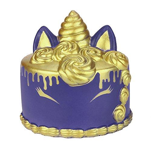 DORIC Stress Toys Kawaii Cartoon Unicor Cake Squishy Slow Rising Cream Scented Reliever