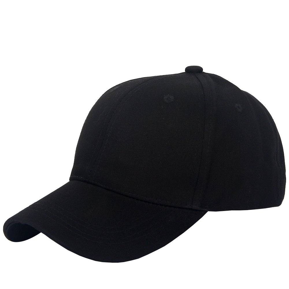 97470a4de Amazon.com: Cotton Twill Low Profile Adjustable Plain Baseball Cap ...
