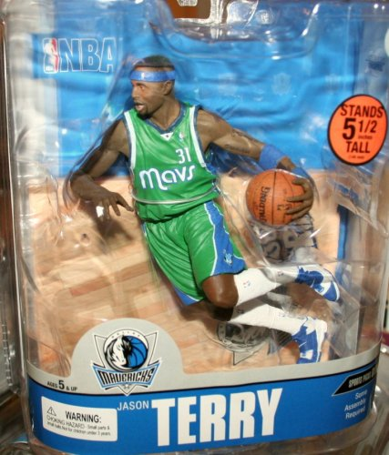 McFarlane Toys NBA Sports Picks Series 13 Action Figure Jason Terry (Dallas Mavericks) Green Jersey - Dallas Custom Jersey Mavericks