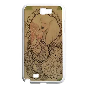 Samsung Galaxy Note 2 N7100 Elephant flower Phone Back Case DIY Art Print Design Hard Shell Protection FG053890