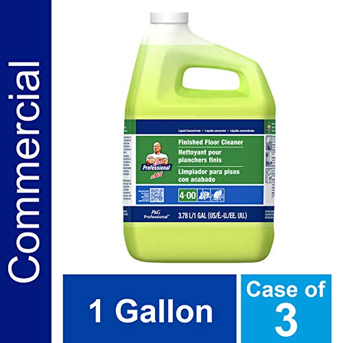 P&G Professional Floor Cleaner from Mr. Clean Professional, Bulk Liquid Concentrate fro Hardwood, tile or Terrazo Floors, Commercial Use, Lemon Scent, 1 Gal. (Case of 3) - PGC02621CT