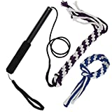 Interactive Dof Puppy Teaser With Cotton Rope Retractable Dog Training Rope Tease Toy Black L