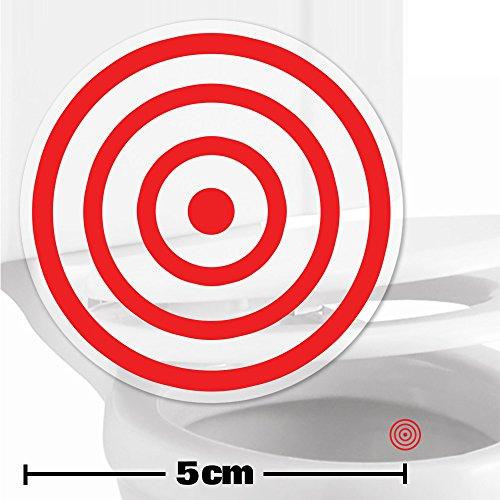 Toilettenhilfe für Kinder Säuglinge Jungs Lustige Badezimmer Bad Töpfchen Pinkelhilfe 2 x Zielhilfe Aufkleber (5cm)