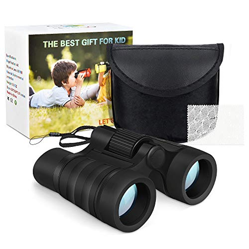 [해외]superwinky Shock Compact Binoculars for Kids - Best Gifts / superwinky Gifts for 3-10 Year Old Boys, Compact Binoculars for Kids Educational Learning Toys for 3-10 Year Old Boys Fun Toys for Boys Age 3-10 Black WKUSCB03
