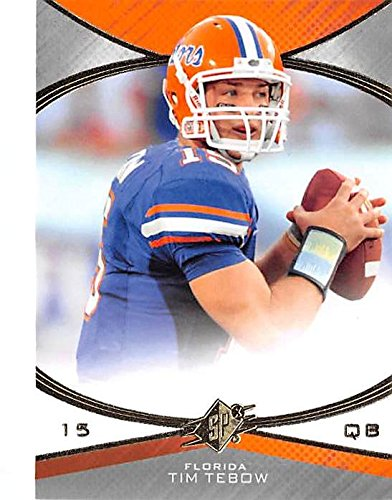 Tim Tebow Football (Tim Tebow football card (Florida Gators Heisman Trophy QB) 2010 Upper Deck #22 Rookie)
