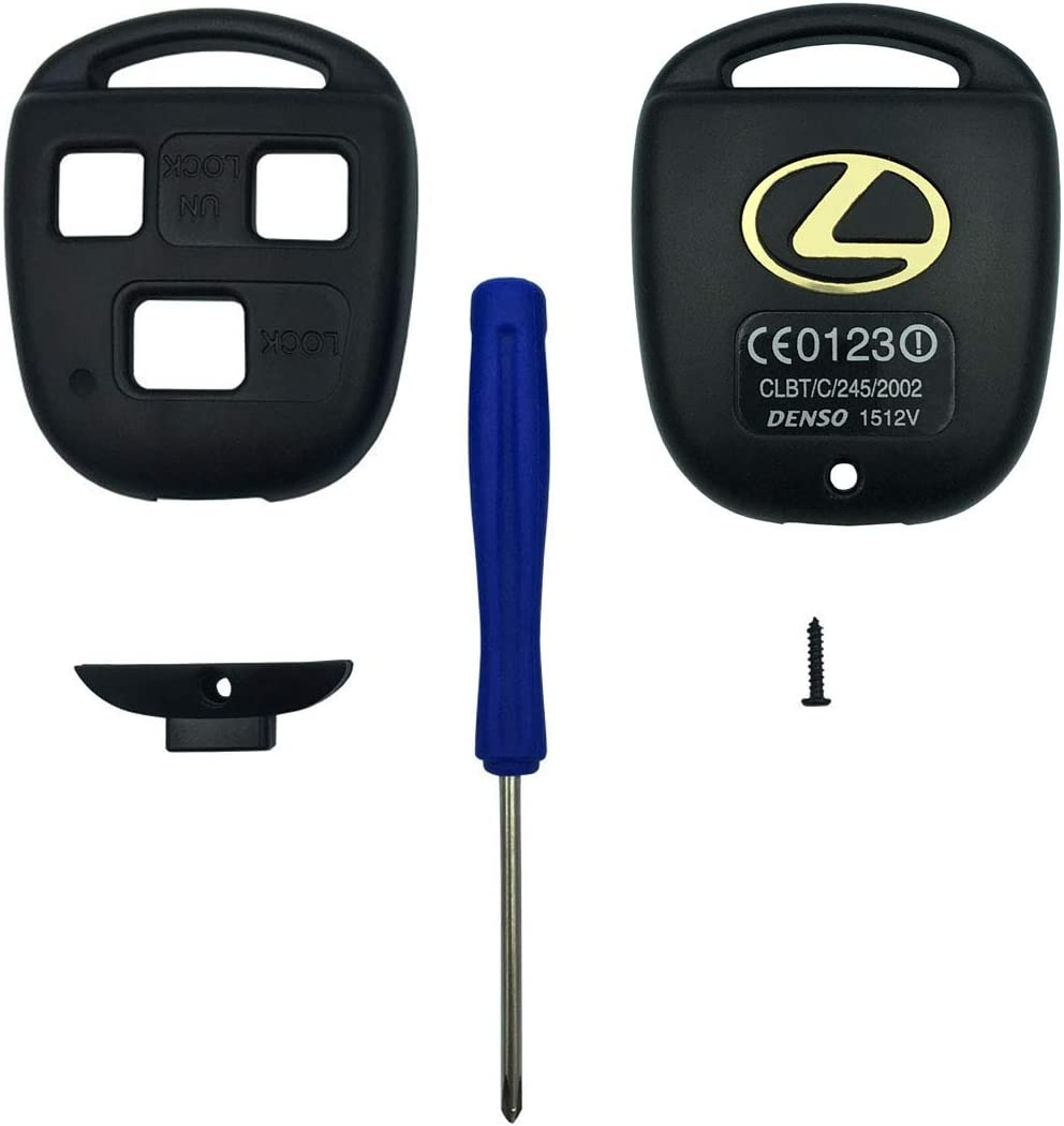 2PCS Horande Replacement Keyless Entry Remote Control Key Fob Case cover Fit for ES GS GX IS LS LX RX SC IS300 IS330 ES330 RX330 RX350 LX470 GX470 Key Fob Shell Cover With Blade