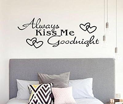 "Iuhan® Fashion Always Kiss Me Goodnight"" Home Decor Wall Sticker Decal Bedroom Vinyl Art Mural"