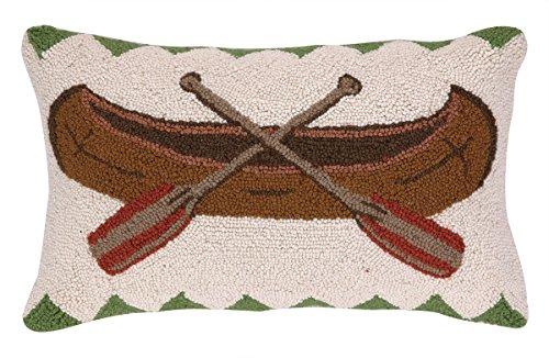 Peking Handicraft Canoe Hook Pillow, 12 by 20-Inch, Brown