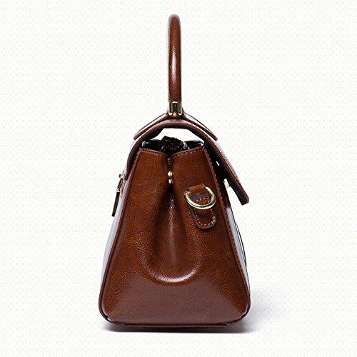 Portable Totes poignée Mesdames Sac Satchel Top Bandoulière à De Main Femmes Messenger à Crossbody Brown Bureau Hobos Sacs Vintage Sacs wPzSfOZcnq