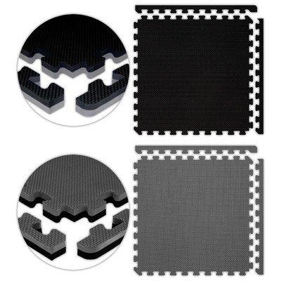 Jumbo Reversible SoftFloors Set in Black / Grey Size: 10′ x 20′
