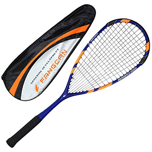 Fangcan Darkness 7 Blue Graphite Professional Squash Racket Include Cover and Squash Ball and Overgrip