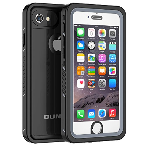 iPhone 6 Plus/6s Plus Waterproof Case, OUNNE Shockproof Dustproof Waterproof With Touch ID Sand Proof Snowproof Full Body Cover for iPhone 6 Plus/6s Plus (5.5inch) -Black