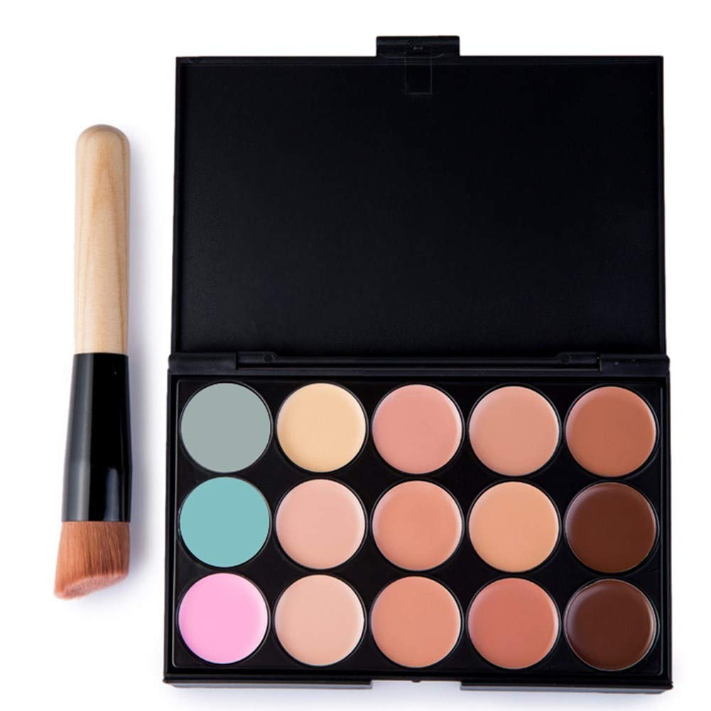 AOXIANG 15 Color concealer Makeup Foundation Camouflage Cream Palette Face Contour Cosmetic Set With Brush