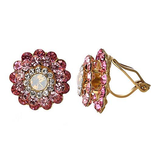 pink clip earrings - 4