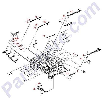 Amazon Com Hp Rm1 5586 000cn Shutter Rear Arm