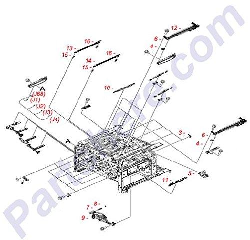 HP RU6-2247-000CN Torsion spring - Provides torsion to the cartridge lock lever