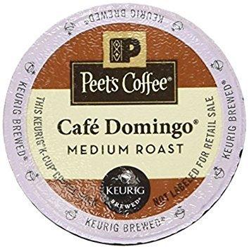 Peet's Coffee K Cup Cafe Domingo Medium Roast, 10 Count (Pack of 6)