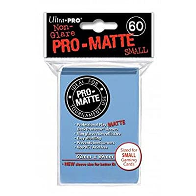Ultra Pro Pro-Matte Sleeves - Light Blue, Small - for Yu-Gi-Oh, Cardfight/CFVG (60 Deck Protectors): Sports & Outdoors