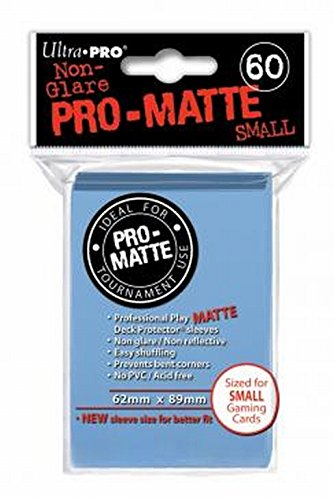 (Ultra Pro Pro-Matte Sleeves - Light Blue, Small - for Yu-Gi-Oh, Cardfight/CFVG (60 Deck Protectors))
