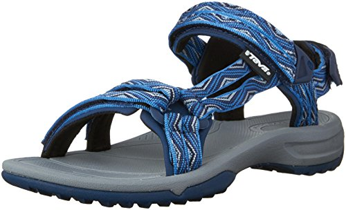 Teva Damen Terra FI Lite Sandale Trueno Blau