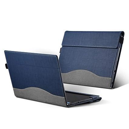 Hoverxe Lenovo Yoga Book - Funda de Piel para portátil Azul ...