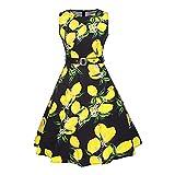Misscat Women's A Line Dress Knee Length Sleeveless Racerback Printed Sundress