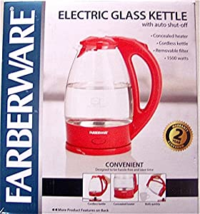 Farberware Electric Glass Kettle 1 : Red is the only color
