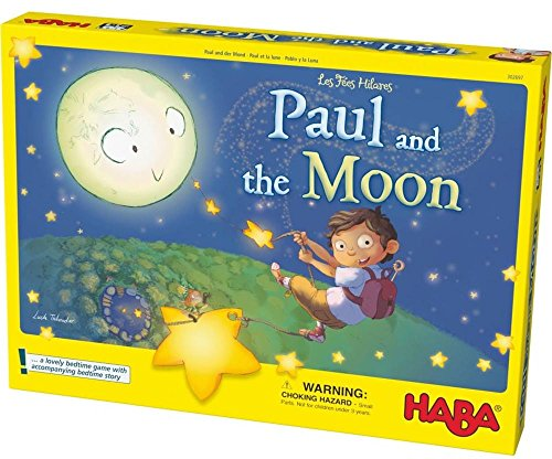 HABA Paul and the Moon Cooperative Memory Game - Lovely Bedtime Game for Ages 3-8 Haba Memory Game
