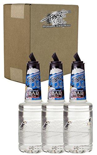 - Finest Call Premium Bar/Sugar Syrup Mix, 1 Liter Bottle (33.8 Fl Oz), Pack of 3