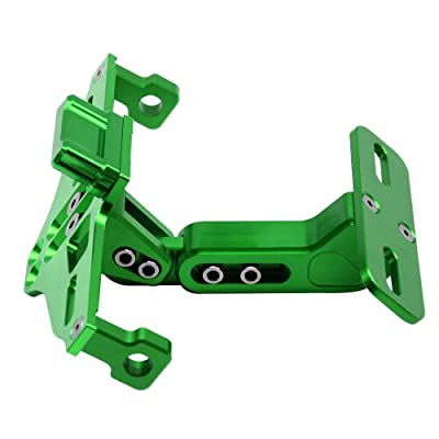 Motorcycle Accessories Universal Fender Eliminator License Plate Bracket Holder Ho Tidy Tail with Aluminium LED Light For Kawasaki Z250 Z650 Z750 Z800 Z900 Z1000 Z1000SX (Green): Automotive