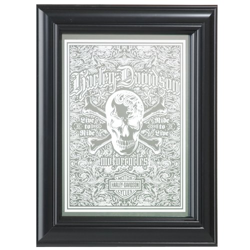 Harley-Davidson Live To Ride Skull Mirror