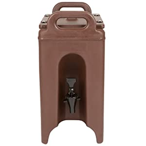 Cambro 250LCD131 Camtainer 2.5 Gallon Dark Brown Insulated Beverage Dispenser Case of 1