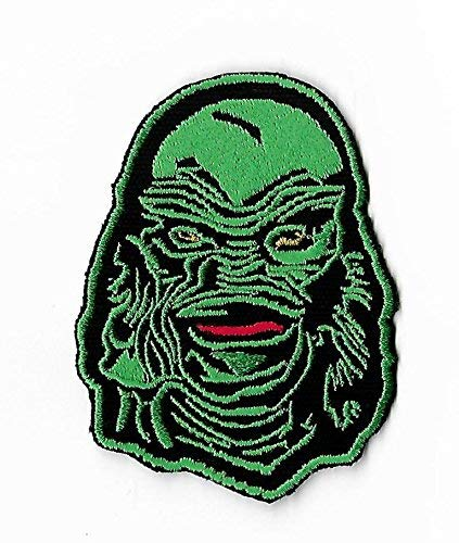 Creature from the Black Lagoon Patch (3.5 Inch) DIY Embroidered Iron / Sew on Badge Applique Horror Movie Souvenir Costume Universal Monster