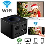WiFi Display Dongle DIWUER Wireless Display Receiver With LAN Port More Stable Screen Mirroring Support 1080P Full HD AV Dual Output Display Miracast Airplay DLNA for iOS Android Mac Win8.1