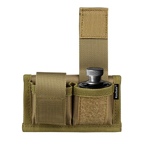 Kosibate Speedloader Pouch Case Holder Nylon Tactical Double Speedloader Belt Universal Fit .357 .44 Most from .38 to .45 Colt (tan) ... ()