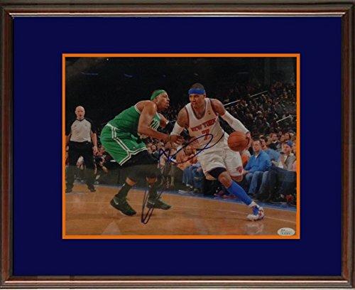 Carmelo Anthony JSA Signed New York Knicks Framed Photo-11x14
