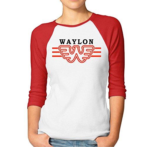 PTCY Waylon W Logo Jenning Women's Originals Raglan T-shirt Red - Outlet Lululemon Online