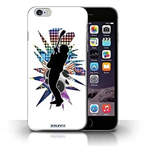 KOBALT? Protective Hard Back Phone Case / Iphone 5C +/Plus 5.5 | Hendrix White Design | Rock Star Pose Collection hjbrhga1544