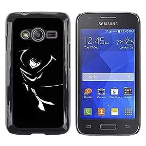 TopCaseStore / la caja del caucho duro de la cubierta de protección de la piel - Black & White Girl - Samsung Galaxy Ace 4 G313 SM-G313F