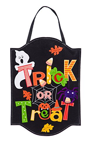 (Evergreen Trick or Treat Outdoor Safe Felt Door)